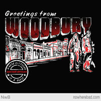 The Walking Dead Greetings From Woodbury Limited Edition Mens T-shirt (m-2xl)
