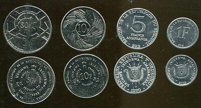 Burundi coins set of 4 pieces UNC 1F-50F