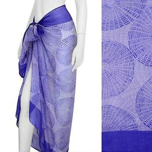 Sarong-Swimwear-Beach-Cover-Up-Bright-Purple-Circles-Pareo-72-x-44-inches