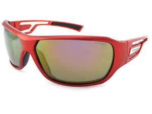 fa64dfde17 La imagen se está cargando Gafas-de-sol-polarizadas-Envoltura-Rojo -Satinado-lentes-