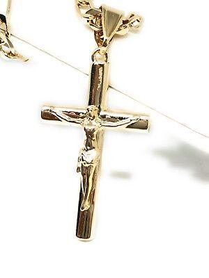 """INRI Crucifix Jesus Cross Pendant 24/"""" Various Chain Hip Hop Necklace XZ188"""