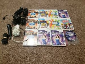 Nintendo wii Microphone Music Game High School Musical READ 1 Mic 2 games Bundle
