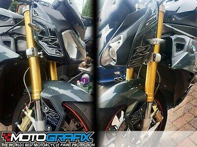 2 Protections Lat/éral R/éservoir R/ésine Gel 3D Compatible Moto BMW S1000XR