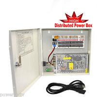 Ptc 9 Port 12v 10 Amp Dc Distributed Power Box Top For Home Security Cameras K