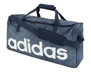 a149a6b7a3 Image is loading Adidas-Linear-Performance-Medium-Bags-Navy-Running-Cross-