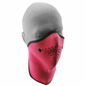 Neo X Neoprene Pink Face Mask Filter Neck Protection Motorcycle Zan Headgear Ebay