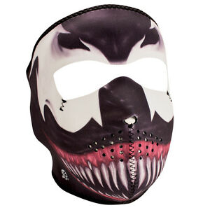 Venom Spiderman Scary Reversible Biker Motorcycle Neoprene Full Face Ski Mask Ebay