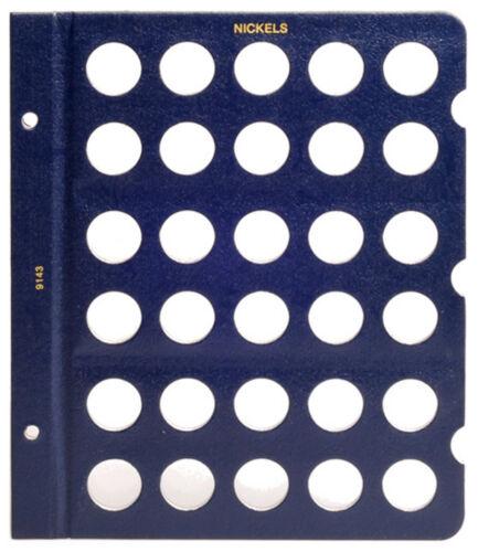 WHITMAN Blue Classic #9143 Blank Nickel Album Page