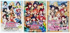 Over the Rainbow-Anime B5 Chirashi-Mini Poster Set Of 3 Love Live Sunshine!