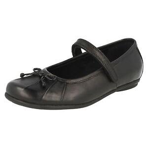 d6d0a868 Details about *SALE* Clarks 'Tasha Ally' Girls Black Leather Smart School  Shoes WIDE G Fit