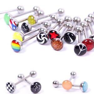 30X-metallo-Piercing-anelli-di-lingua-Steel-Bars-Barbells-FormulazioneCRIT