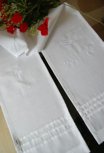 Taufschal con santificada motivos bordadas de algodón zutaufe taufkleid