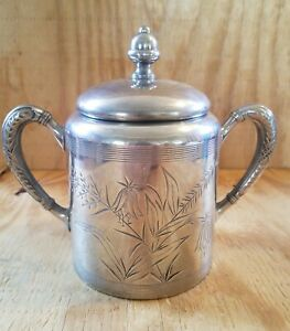 Hartford Silver Plate Co. Silver Canister with Lid