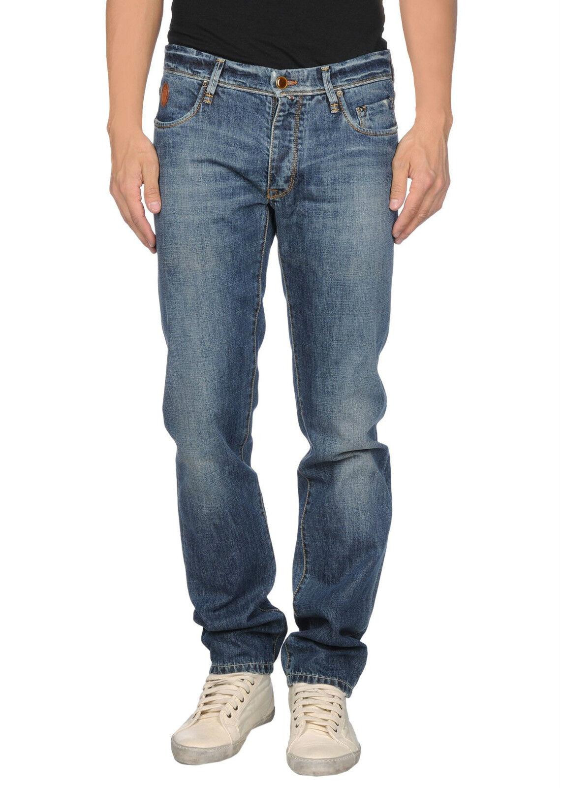 TRU TRUSSARDI Jeans uomo effetto vintage vita regolare logo in PROMOZIONE