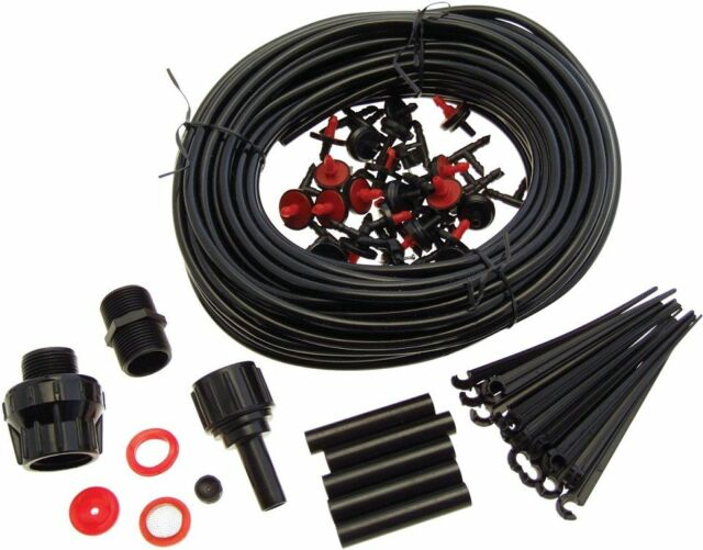 71PC IRRIGATION DRIP WATERING SYSTEM GARDEN GREENHOUSE OR HYDROPONIC DRIP
