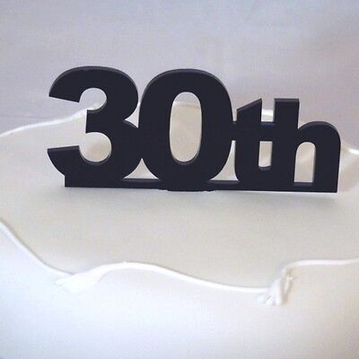 Ambitious 30th Cake Topper Black Acrylic 6cm Height Inc Spike 10cm X 12cm Home & Garden Kitchen, Dining & Bar