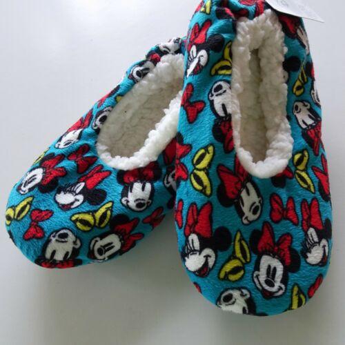 Minnie Mouse Disney Slipper Sock Adult S//M Size 5-7 Fuzzy Babba Gripper Sole