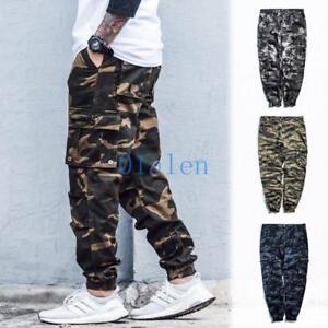Mens Boys  Cargo Overalls Leisure Harem Pants Hip-hop Camo Loose Baggy Trousers