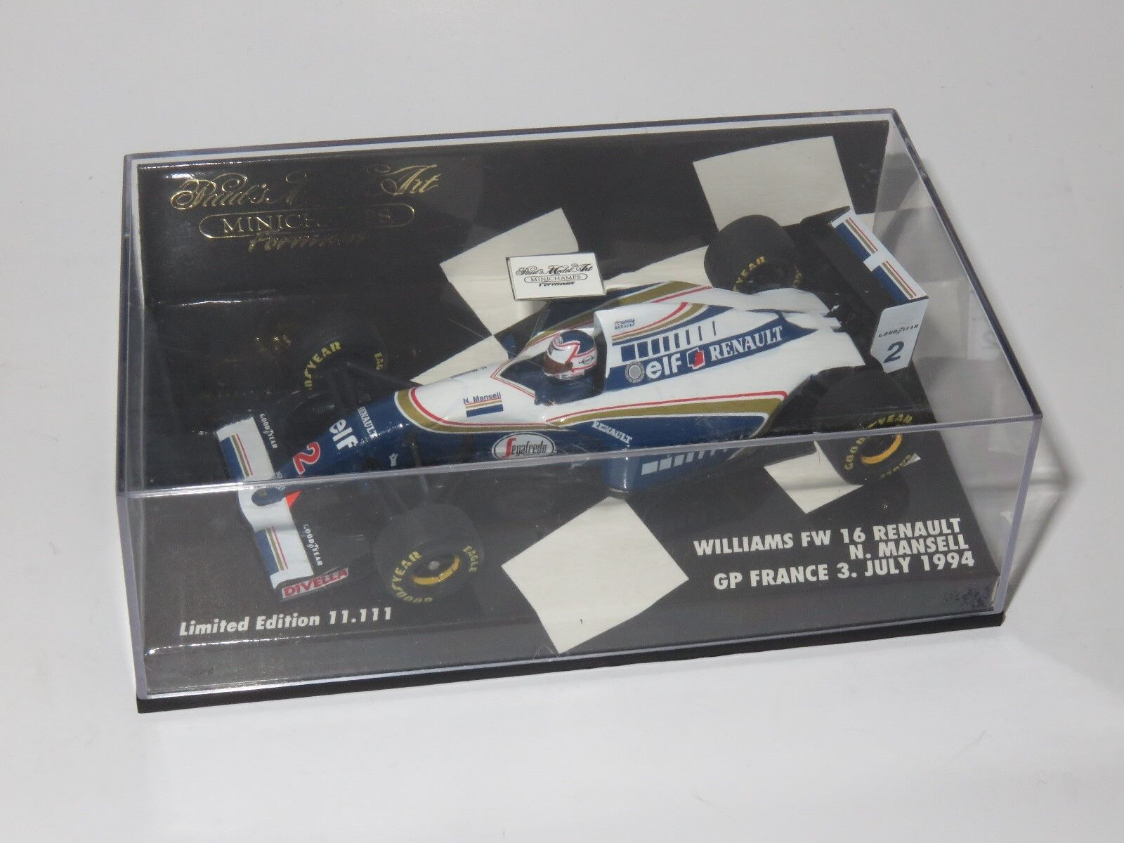 1 43 Williams Renault FW16   French Grand Prix 1994  Nigel Mansell