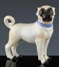 RARE ANTIQUE MEISSEN MINIATURE STANDING PUG DOG PORCELAIN FIGURE FIGURINE #1