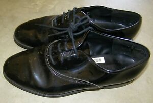 Preowned-After-6-Lace-Up-Mens-pointed-toe-Black-Tuxedo-shoes-Size-10