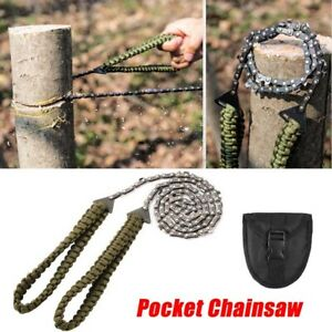 Foldable Pocket Survival Gear Hand Saw Pocket Chainsaw Chain Saw Camping Tool