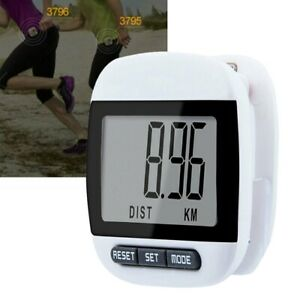 Large LCD Waterproof Step Pedometer Sport Calorie Counter Walking Distance ll7