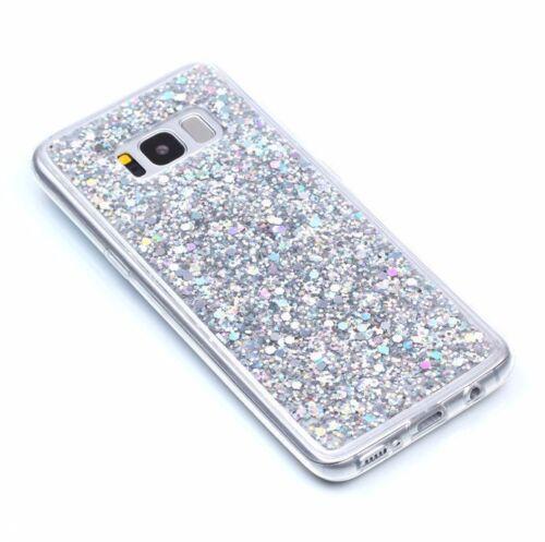 Plus-TPU goma goma brillante caso de Lentejuelas Brillante Ostentoso Samsung Galaxy S8//S8