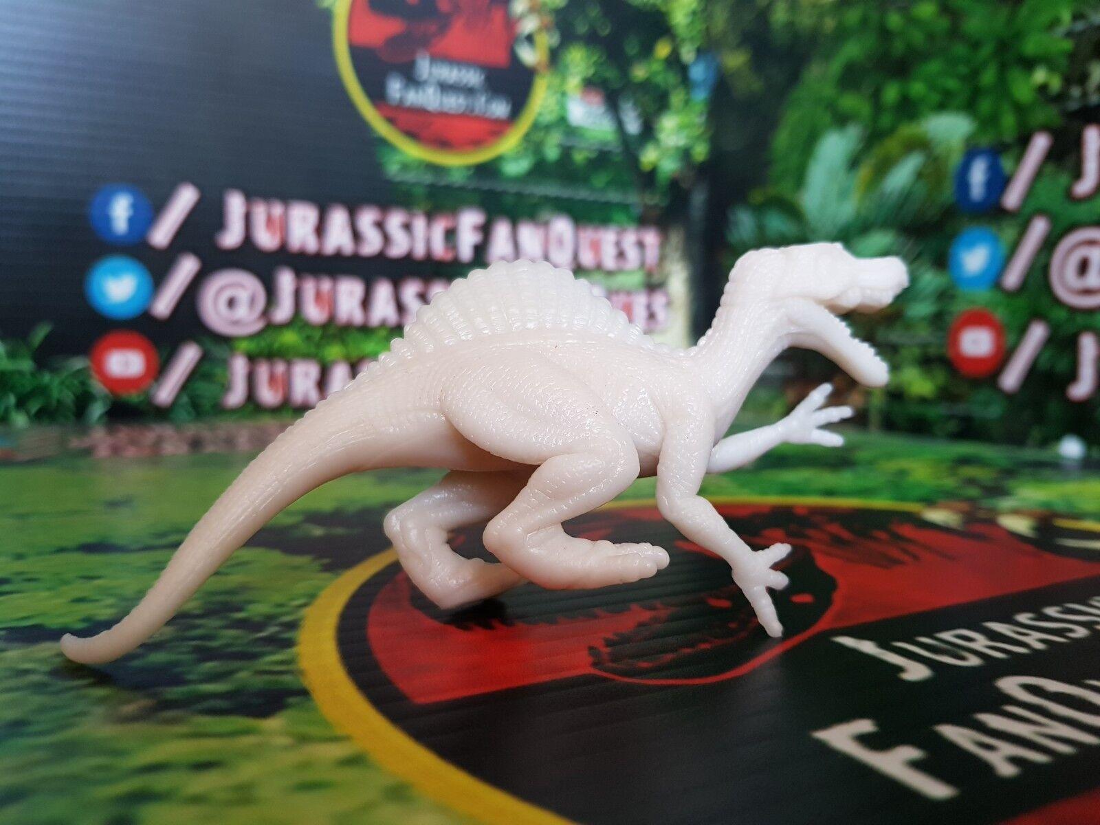 Jurassic Park Spinosaurus Hasbro Dinosaur Predotype with Date Stamps WHITE