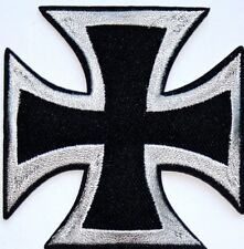 IRON CROSS WW2 WWII Embroidered Iron Sew On Patch Applique Badge Motif Biker
