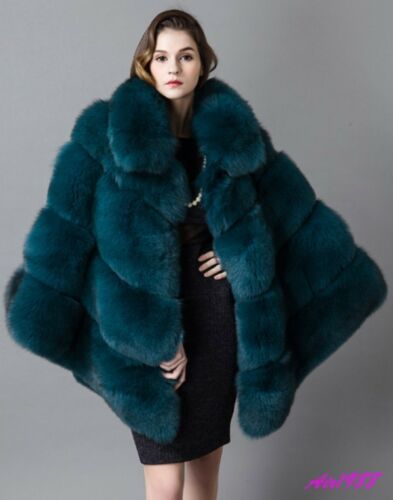 Femme Outwear Veste Cape Vert Hiver De Luxe Épaissir N987 Manteau qBE6Ux8