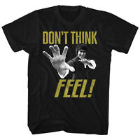 Bruce Lee Mens T-shirt  Feel  In 100% Black Cotton In Sizes Sm - 5xl