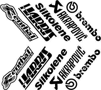 Brembo Renthal stickers Akraprovic Silkolene Motul Afam Bridgestone