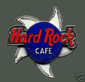 Hard-Rock-Cafe-ORLANDO-2000-5-Spinning-SHARK-Fins-PIN-Red-Blue-HRC-Logo-SPINNER