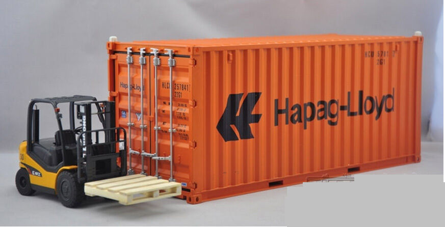 1 20 Hapag-Lioyd  shipping container model+forklift+board