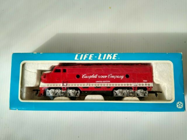 Life-Like Campbell Limited Edition 1982 8373 F-7 Diesel Locomotive HO train OB