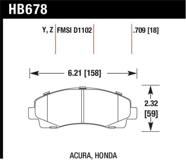 Hawk For 2006-11 Honda Ridgeline For 2009-13 Acura TL