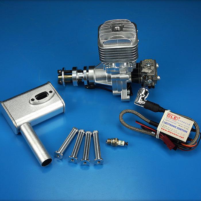 Nuevo DLE30 30CC motor de gasolina con Igniton & Silenciador Para RC avión modelo fijo