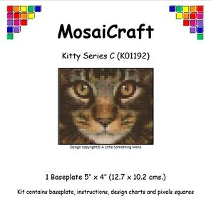 MosaiCraft Pixel Craft Mosaic Art Kit /'Christmas Kitten/' Pixelhobby