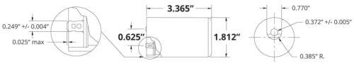 TEMCo 400-480 MFD uF Electric Motor Start Capacitor 165V HVAC 165 vac v volt
