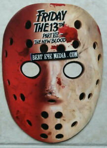 FRIDAY-THE-13TH-MASK-PROMO-TOM-SAVINI-MOVIE-POSTER-GEORGE-ROMERO-MONSTER-HORROR