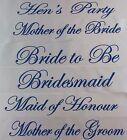 HENS NIGHT BRIDAL SASH SASHES BRIDE BRIDESMAID MAID OF HONOUR - WHITE + BLUE