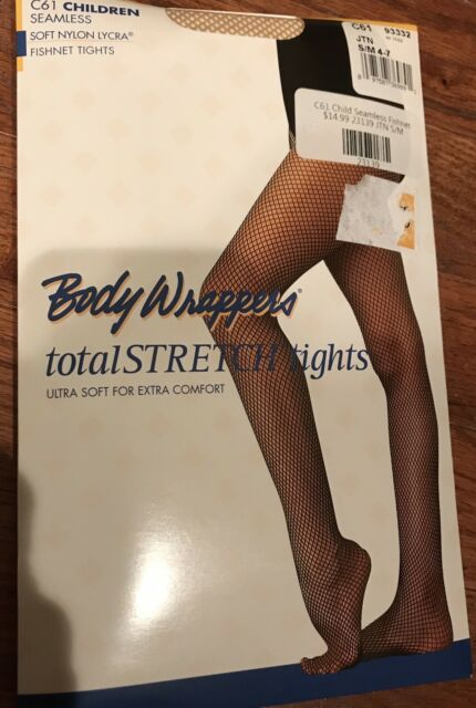 8-14 Body Wappers Seamless Fishnet Footed Tights for Girls Style C61 4-7