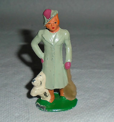 "VINTAGE Lead  Barclay ""Woman Passenger, In Blue, With Dog"" B173  EX Cond. F/S"