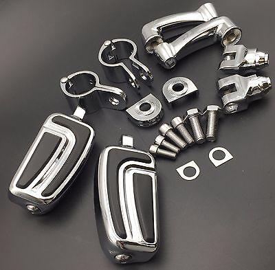 1 Pollici Cromo Traspiranti Piede Peg Per Harley Davidson Sportster 883 1200