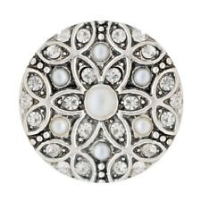 Button Klick Design Kristall Gelb 20mm kompatibel Chunk Armband