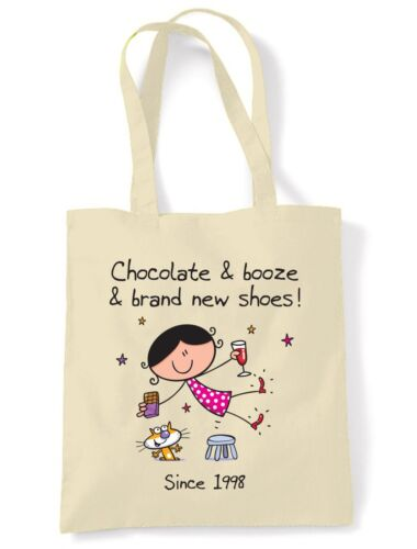Chocolate Booze and Brand New Shoes 18th Birthday Tote Shoulder Shopping Bag
