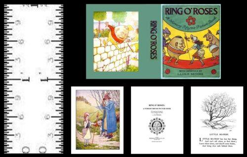 LESLIE BROOKE 1:12 SCALE MINIATURE BOOK RING O' ROSES L