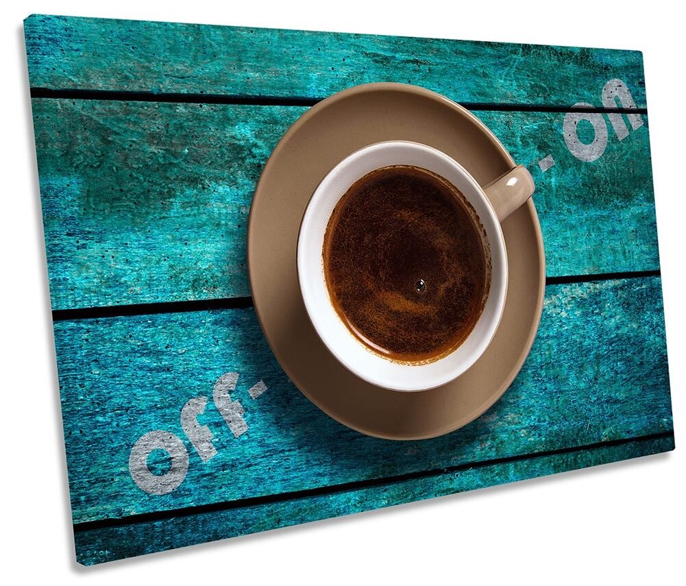 Coffee On Off Switch Picture SINGLE CANVAS WALL ART Print