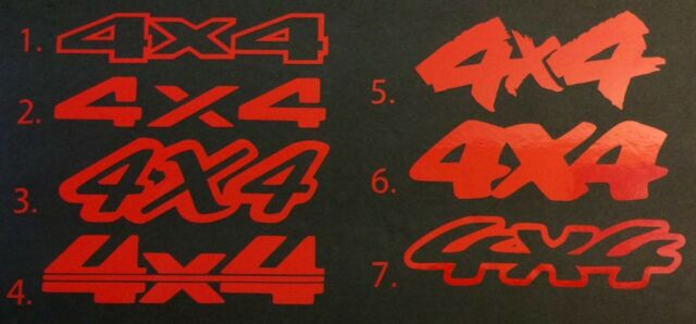 2 NEW RED 4X4 4WD FORD CHEVY DODGE TOYOTA GMC DECAL STICKER LOGO EMBLEM